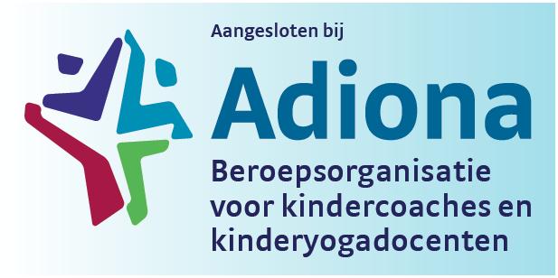aangesloten bij Adiona beroepsorganisatie voor kindercoaches en kinderyogadocenten